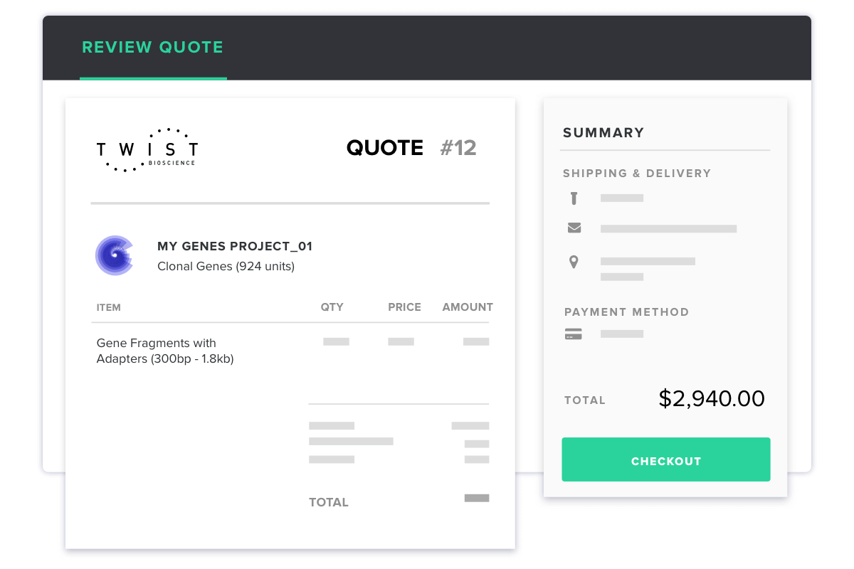 Instant quote and payment