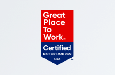 We're proud to be a Great Place to Work-Certified™ company!